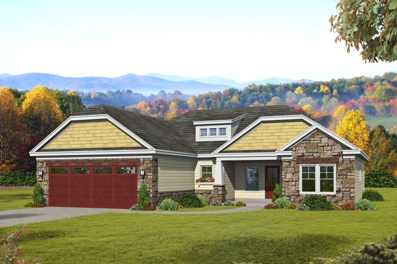 House Plan Design - Craftsman Exterior - Front Elevation Plan #932-171
