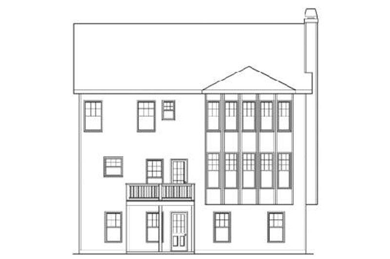 Craftsman Exterior - Rear Elevation Plan #419-203 - Houseplans.com