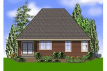 Dream House Plan - Traditional Exterior - Rear Elevation Plan #48-280