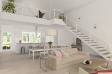 Dream House Plan - Modern Farmhouse great room