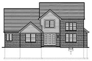 Colonial Style House Plan - 3 Beds 2.5 Baths 2454 Sq/Ft Plan #46-424 Exterior - Rear Elevation