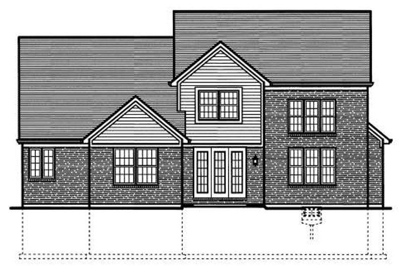 Colonial Exterior - Rear Elevation Plan #46-424 - Houseplans.com