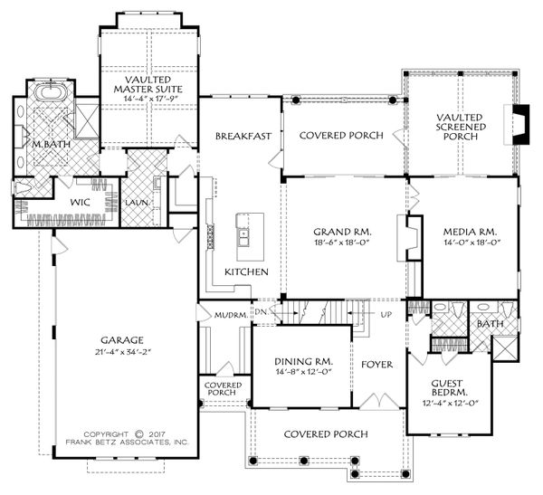 Architectural House Design - Country Floor Plan - Main Floor Plan #927-982