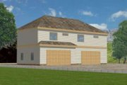 Traditional Style House Plan - 3 Beds 2 Baths 1378 Sq/Ft Plan #117-359 Exterior - Front Elevation