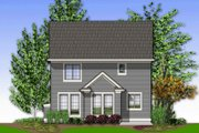 Traditional Style House Plan - 3 Beds 2.5 Baths 1464 Sq/Ft Plan #48-136 Exterior - Rear Elevation