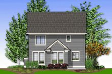 Dream House Plan - Traditional Exterior - Rear Elevation Plan #48-136