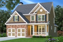 Dream House Plan - Traditional Exterior - Front Elevation Plan #419-133