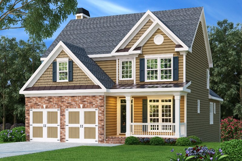 Architectural House Design - Traditional Exterior - Front Elevation Plan #419-133