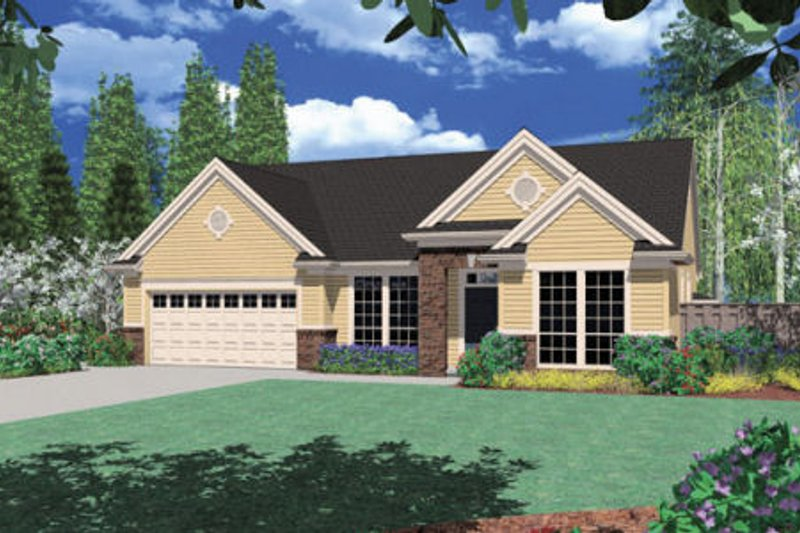 Traditional Exterior - Front Elevation Plan #48-124 - Houseplans.com