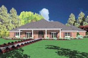 Traditional Style House Plan - 3 Beds 3 Baths 3206 Sq/Ft Plan #36-232 Exterior - Front Elevation