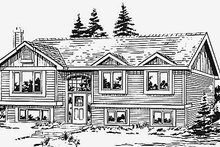 Traditional Exterior - Front Elevation Plan #18-312