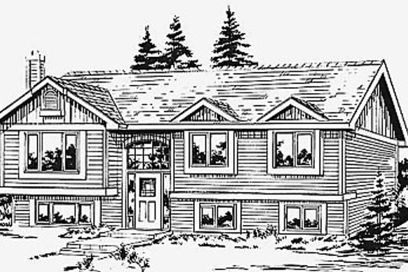 House Blueprint - Traditional Exterior - Front Elevation Plan #18-312