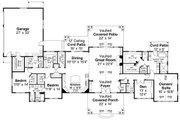 Ranch Style House Plan - 3 Beds 2.5 Baths 3459 Sq/Ft Plan #124-1115 Floor Plan - Main Floor