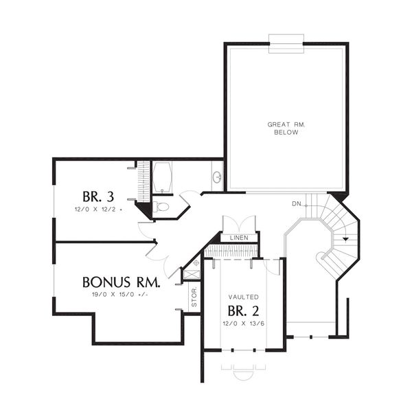 Traditional Floor Plan - Upper Floor Plan Plan #48-159