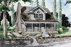 Cottage Exterior - Front Elevation Plan #312-554