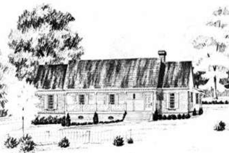 Dream House Plan - Traditional Exterior - Front Elevation Plan #36-417