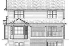 Architectural House Design - Traditional Exterior - Rear Elevation Plan #70-662