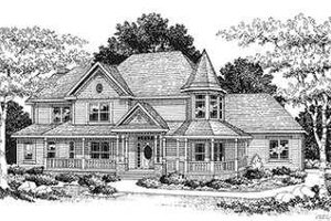 Victorian Exterior - Front Elevation Plan #70-482