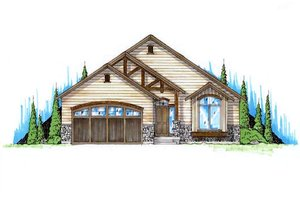 Ranch Exterior - Front Elevation Plan #5-234