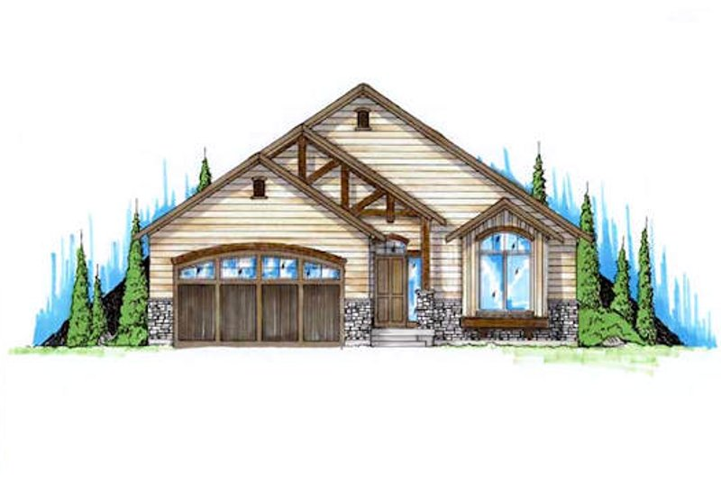 Architectural House Design - Ranch Exterior - Front Elevation Plan #5-234