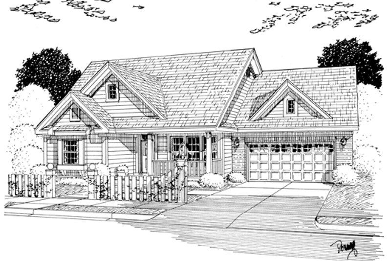 Cottage Exterior - Other Elevation Plan #513-2049 - Houseplans.com