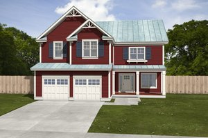 Dream House Plan - Farmhouse Exterior - Front Elevation Plan #497-5