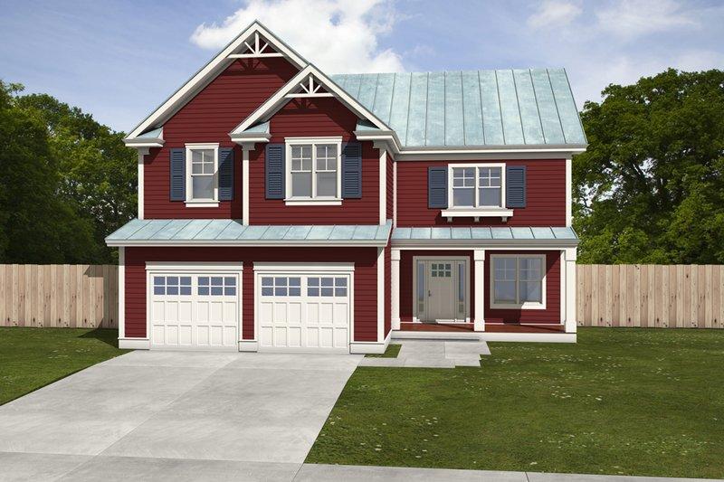Dream House Plan - Farmhouse Exterior - Front Elevation Plan #497-5