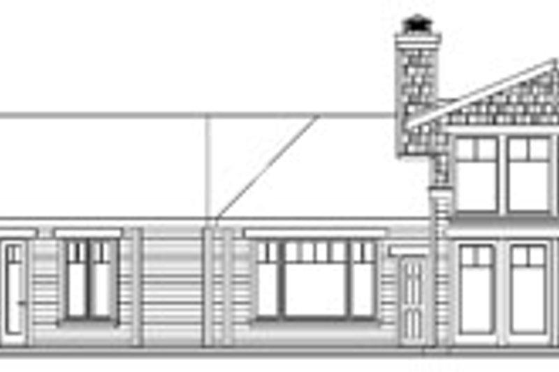 Craftsman Exterior - Rear Elevation Plan #124-737 - Houseplans.com