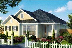 Cottage Exterior - Front Elevation Plan #513-2179