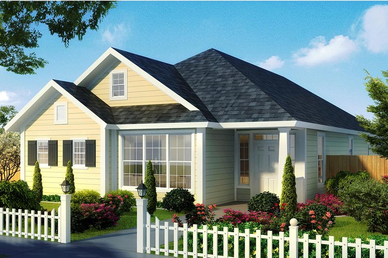Cottage Exterior - Front Elevation Plan #513-2179