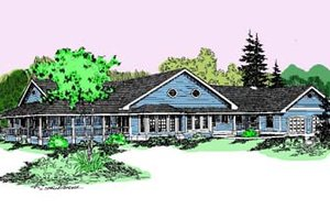 Traditional Exterior - Front Elevation Plan #60-505