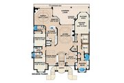 Beach Style House Plan - 3 Beds 3.5 Baths 7907 Sq/Ft Plan #27-469 Floor Plan - Upper Floor Plan