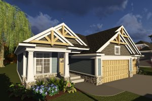 Dream House Plan - Ranch Exterior - Front Elevation Plan #70-1244