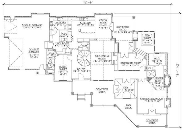 House Plan Design - Craftsman Floor Plan - Main Floor Plan #5-330