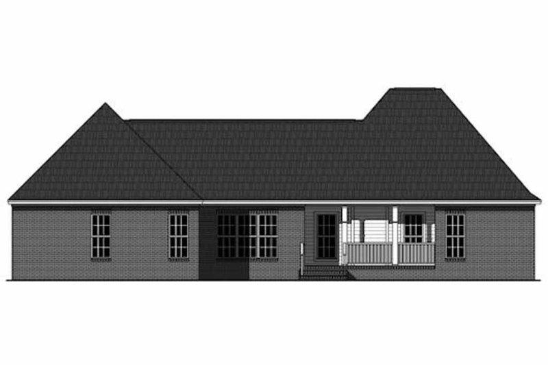 Traditional Exterior - Rear Elevation Plan #21-348 - Houseplans.com