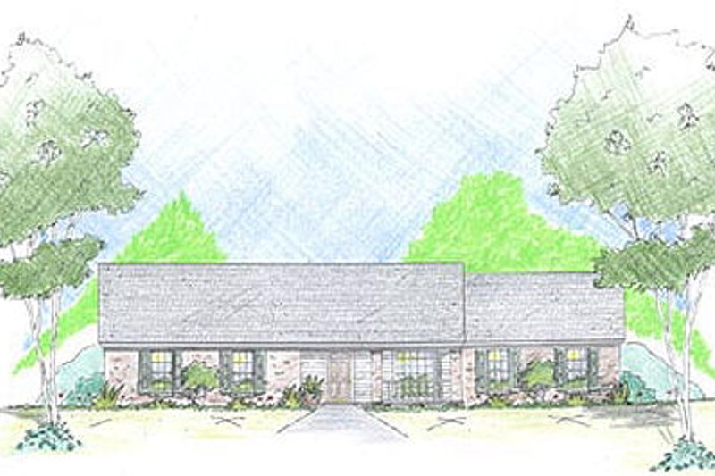 Ranch Exterior - Front Elevation Plan #36-455
