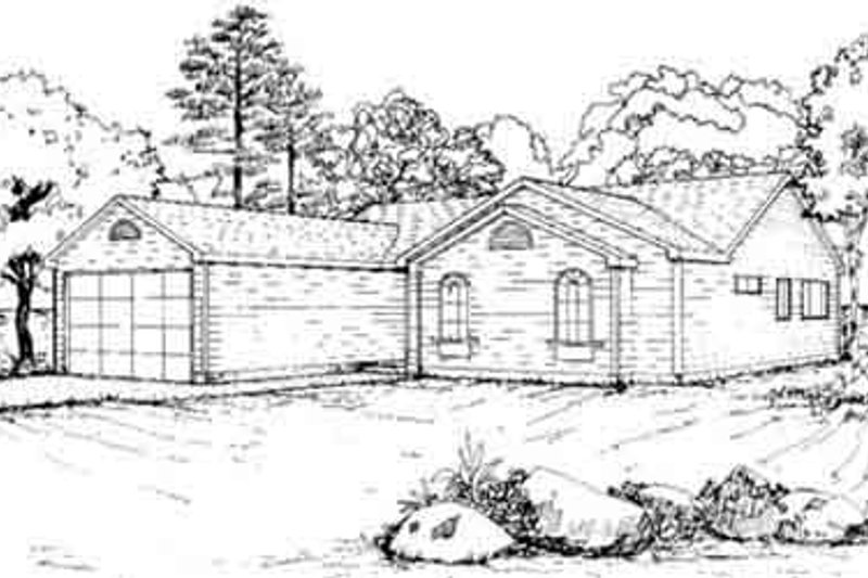 Dream House Plan - Ranch Exterior - Front Elevation Plan #117-189