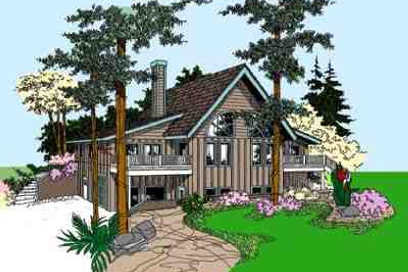 Cottage Exterior - Front Elevation Plan #60-606