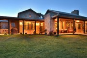 Ranch Style House Plan - 3 Beds 2.5 Baths 2693 Sq/Ft Plan #140-149 Exterior - Covered Porch