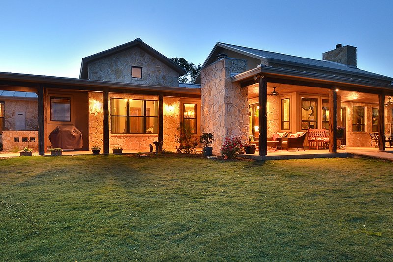 Hill Country Ranch Home, Front Elevation photo