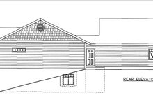 House Plan Design - Craftsman Exterior - Rear Elevation Plan #117-883
