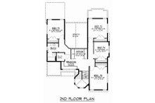 Craftsman Floor Plan - Upper Floor Plan Plan #1064-13