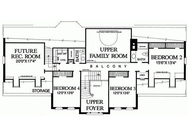 Southern Floor Plan - Upper Floor Plan Plan #137-192