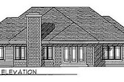 Traditional Style House Plan - 2 Beds 2 Baths 1830 Sq/Ft Plan #70-215 Exterior - Rear Elevation