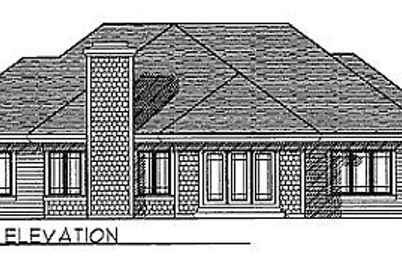 Traditional Exterior - Rear Elevation Plan #70-215 - Houseplans.com