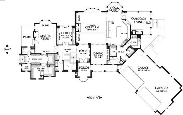 European Floor Plan - Main Floor Plan Plan #48-654