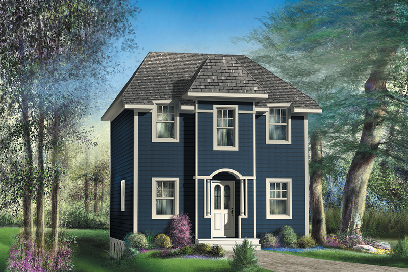 European Style House Plan - 2 Beds 1 Baths 1243 Sq/Ft Plan #25-4721 Exterior - Front Elevation