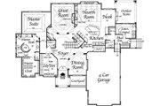 European Style House Plan - 5 Beds 6 Baths 6799 Sq/Ft Plan #458-4 Floor Plan - Main Floor Plan