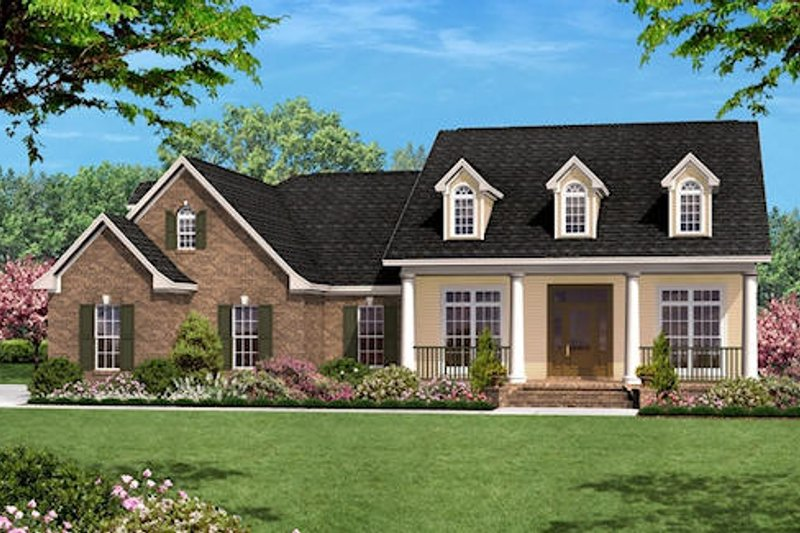 Colonial Style House Plan - 3 Beds 2.5 Baths 2400 Sq/Ft Plan #430-32 Exterior - Front Elevation