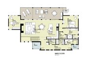 Cabin Style House Plan - 3 Beds 2.5 Baths 3206 Sq/Ft Plan #901-129 Floor Plan - Main Floor Plan